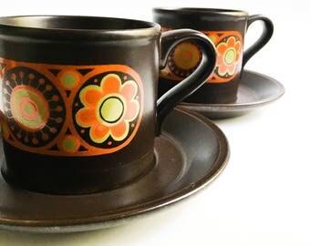 Retro coffee cup, Kiln Craft Hermes mug, Orange Mug, Ceramic ug, Orange Mug, 1970 Mug, Collector Mug