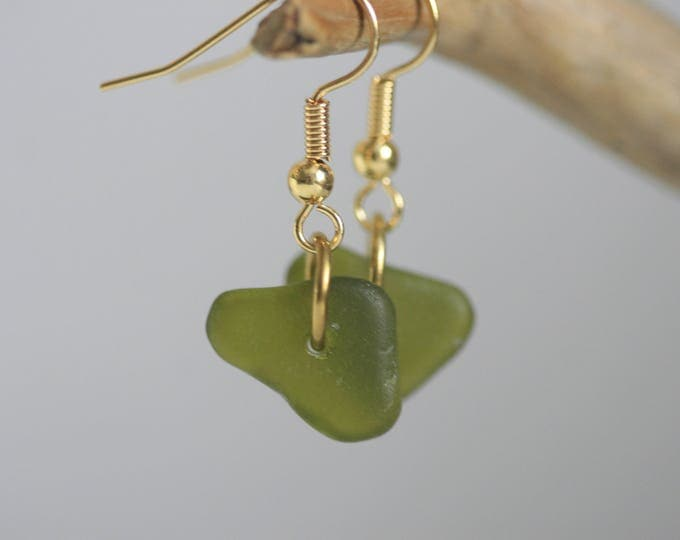 Minimalist Seaglass Earrings | Nautical Jewellery | Minimalist | Nature Inspired | Gift