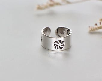 Sterling Silver Toe Ring,  Toe Ring, Adjustable Toe Ring, Simple Toe Rings, Gift For Her, Bohemian Toe Ring, Minimal Toe Band (TS75)