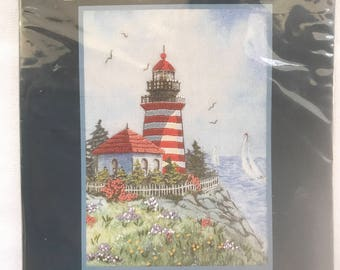Crewel Stitchery Kit, LIGHTHOUSE POINT, by: DIMENSIONS