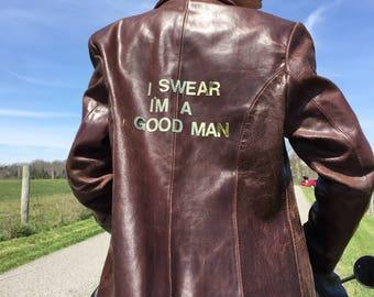 Small men's leather blazer 80's