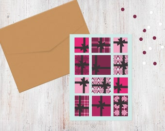 Multi Gift Packages Christmas Card