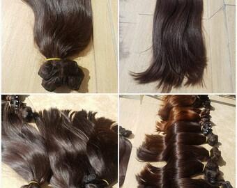 Slavic human hair, 22'', Remy hair, Natural color,Clip in extensions, REmy human hair extensions