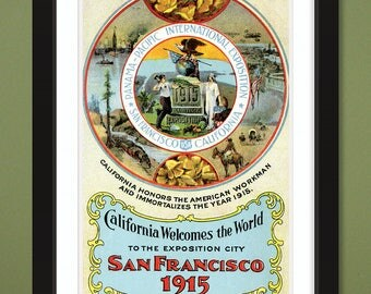 San Francisco World's Fair 1915 (12x18 Heavyweight Art Print)