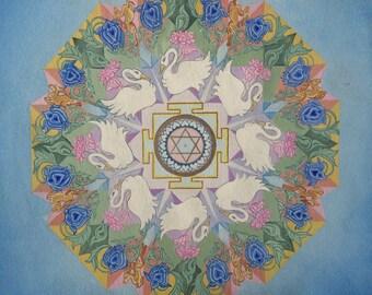 Saraswati Yantra Mandala Giclee Print
