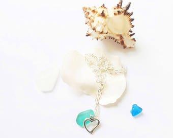 Mermaid Jewellry Beach Glass Necklace Sea Glass Jewelry Sea Glass Necklace Beach Wedding Jewelry Beach Bridesmaid Necklace- Sea Glass Pedant