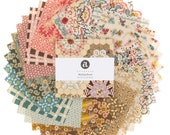 Charm Pack, Single Scoop, 5 Inch Squares, Mailing Road, Andover Fabric, Di Ford-Hall,  Pre Cut Fabric, Reproduction Fabric