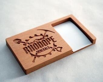 Custom Business Card Holder, Customized Business Card Holder, Wood Card Holder, Wooden Card Holder, Engraved Card Holder, Custome Gift