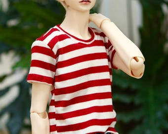 BJD SD17 Red White Striped T Shirt (Limited)