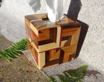 Tissue Box Cover 6 Hardwoods 949-517