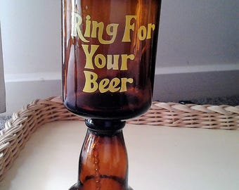 Ring for you Beer Bell and Glass in One - Beer bottle converted - Father's Day gift, gift for him, Novelty gift for him