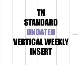 TN Standard Undated 3 month Insert NO GRAPH: MO2P, Vertical WO2P, Habit Tracker, Online Order Tracking, Monthly Goals & Achievements