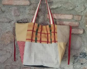 Patchwork Fabric Bag