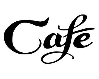 Cafe vinyl decal  for cars walls yeti tumblers cups laptops windows 21
