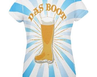 Oktoberfest Das Boot Beer Mug All Over Womens T Shirt