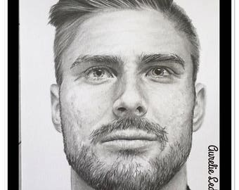 "Pencil portrait ""Olivier Giroud"" graphite"