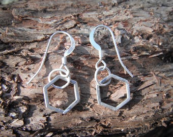 Sterling Silver Honey Comb Earrings