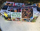 Toiletry Bag - Retro Star Wars - Chewbacca- R2D2- Boba Fett - School Supplies - Electronics case- Graduation Gift, Father's Day Gift