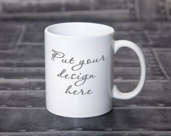 Blank White Mug Mockup / Coffee Cup Mockup /Styled Stock Photo / Coffee Mug