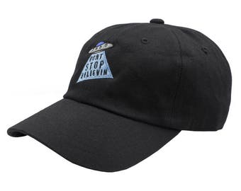 Don't Stop Believing Dad Hat - Black