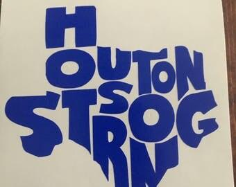 Houston Strong Decal- Hurricane Harvey