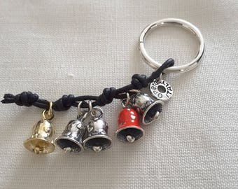 Silver key ring with charms Made in Italy Opera argenti