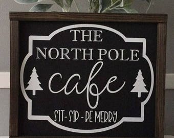 North Pole Cafe | Christmas Sign