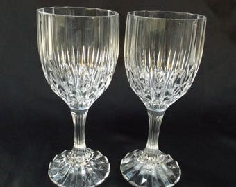 Bretagne by CRISTAL D'ARQUES-DURAND Two 7 3/8 Water Goblets