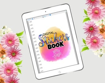 Digital Journal Sticker Book for GoodNotes with Hyperlinks
