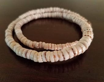 Graduated Tiger Puka Shell Necklace