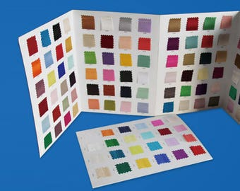 silk fabric color card