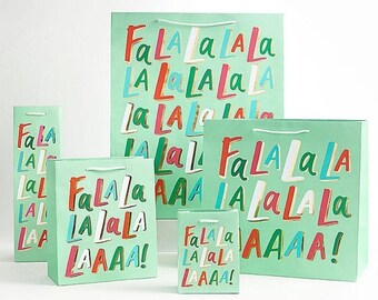 60% OFF Falalala! Gift Bags   christmas gift wrap   holiday   gift bags   gift wrapping  