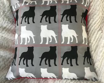 Staffordshire Terrier Throw Pillow