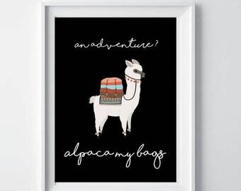 90% OFF Sale Alpaca print, llama print, alpaca my bags decor, alpaca printable, alpaca wall decor, nursery decor, alpaca photo, animal print