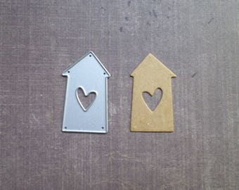 Die cut matrix Sizzix small cottage heart