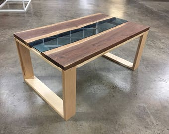 Black walnut river dining table