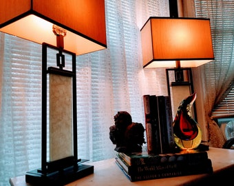 Pair of MID CENTURY Asian-Inspired Table Lamps