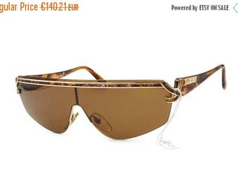 SALE 15% Italian designer LINO VENEZIANI wrapping mask mono lens // Vintage luxury 1980s sunglasses // Deadstock