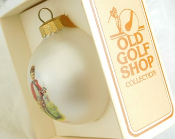 Vintage Christmas Tree Ornaments for Golfer, Country Club Golfers Display, Decorative Gift for Golfer, Collectible Old Golf Shop Ornaments