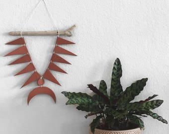 Spikey Terra Cotta Wall Hanging