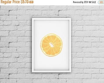 SALE Orange Print, Orange Decor, Fruit Poster, Kitchen Fruit Print, Modern Print, Photo Art, Wall Art Print, Modern Kitchen Print, Modern Mi