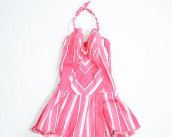 VINTAGE - 50s cotton swimsuit