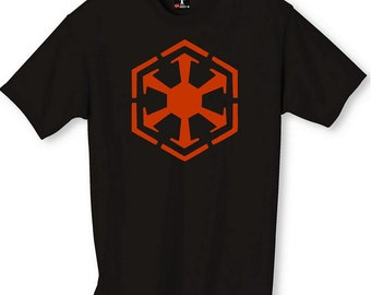 Star Wars SITH Logo with Tie Fighters T-Shirt CUSTOMIZATION available Free Shipping