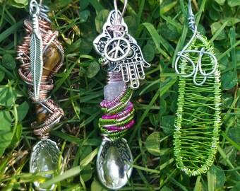 Custom Wire Wrap Spoon Necklace Orders!!!!