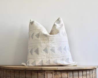 18x18 The Nia African Mudcloth Pillow Cover