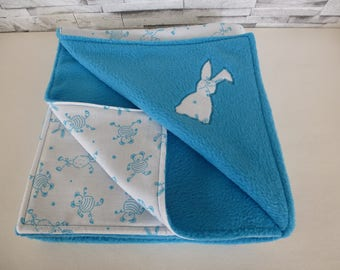 fleece blanket 120 x 60 cm Blue Bunny
