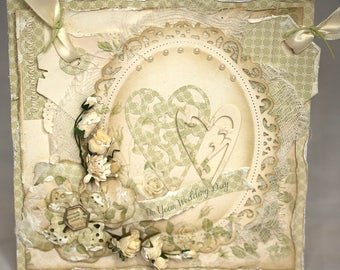 Shabby Chic Wedding Congratulations Card