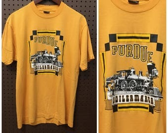 1980s Purdue University Boilermakers shirt Vintage Medium / Large Screen Stars Best