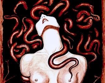"Horror ""Possession"" Medusa blood PRINT A3/A4 size"
