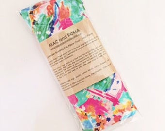 Lavender Scented Eye Pillow Cool / Heat Packs Floral Riot